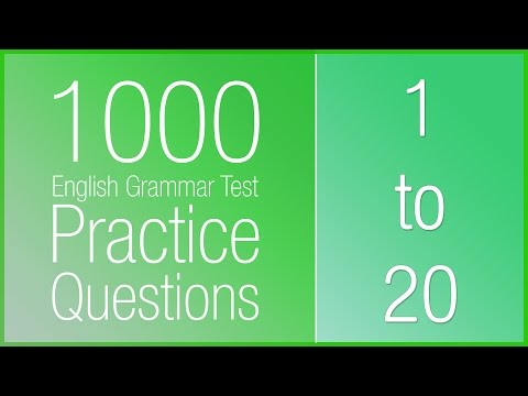 [1-20] 1000 English Grammar Test Practice Questions