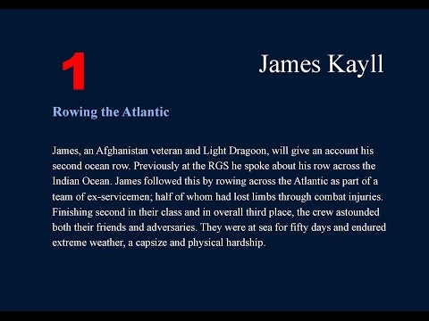 James Kayll - Royal Geographical Society, Endeavours 2