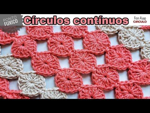 Círculos contínuos / ponto Fuxico - Fran Aluap