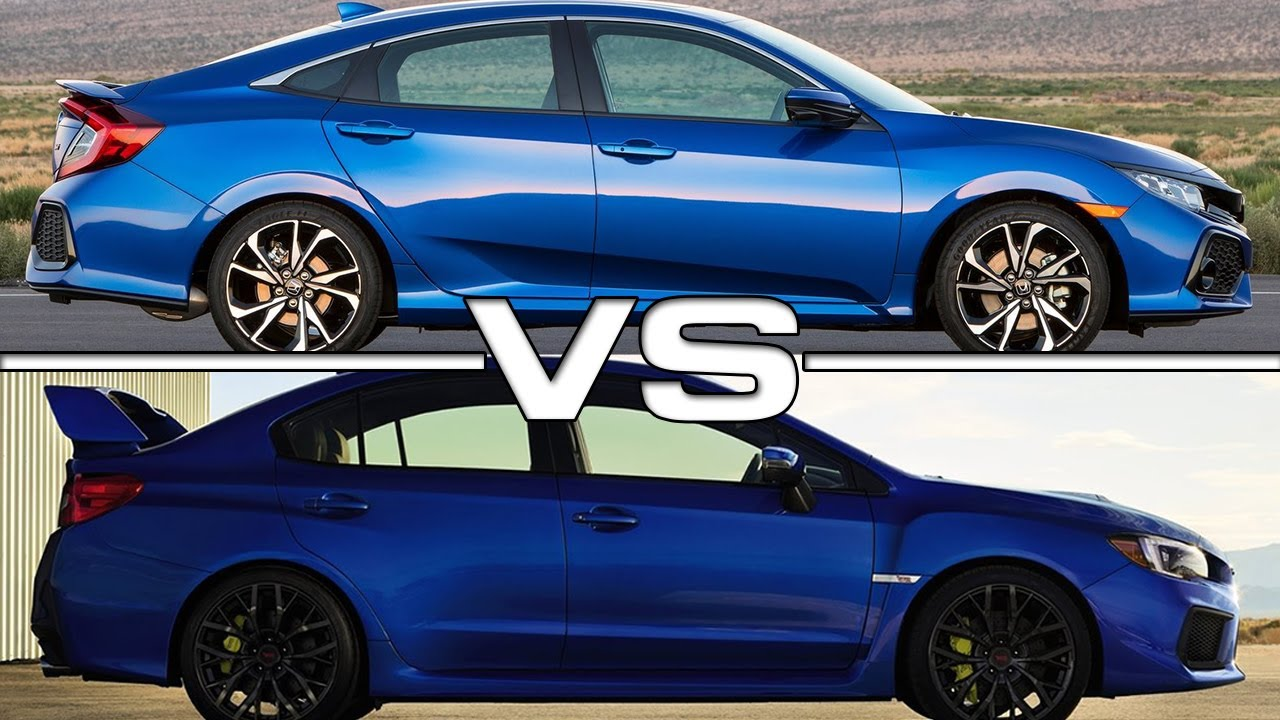 2017 Honda Civic Si vs 2018 Subaru WRX STI  YouTube