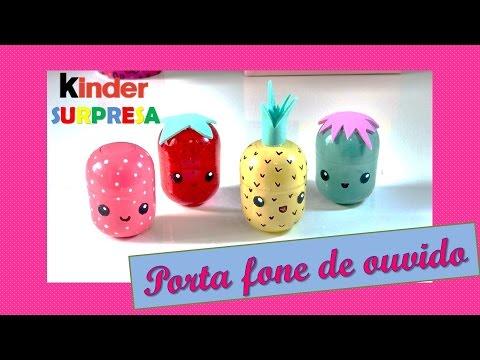 Diy Kinder Surpresa Porta Fone De Ouvido Kawaii Youtube