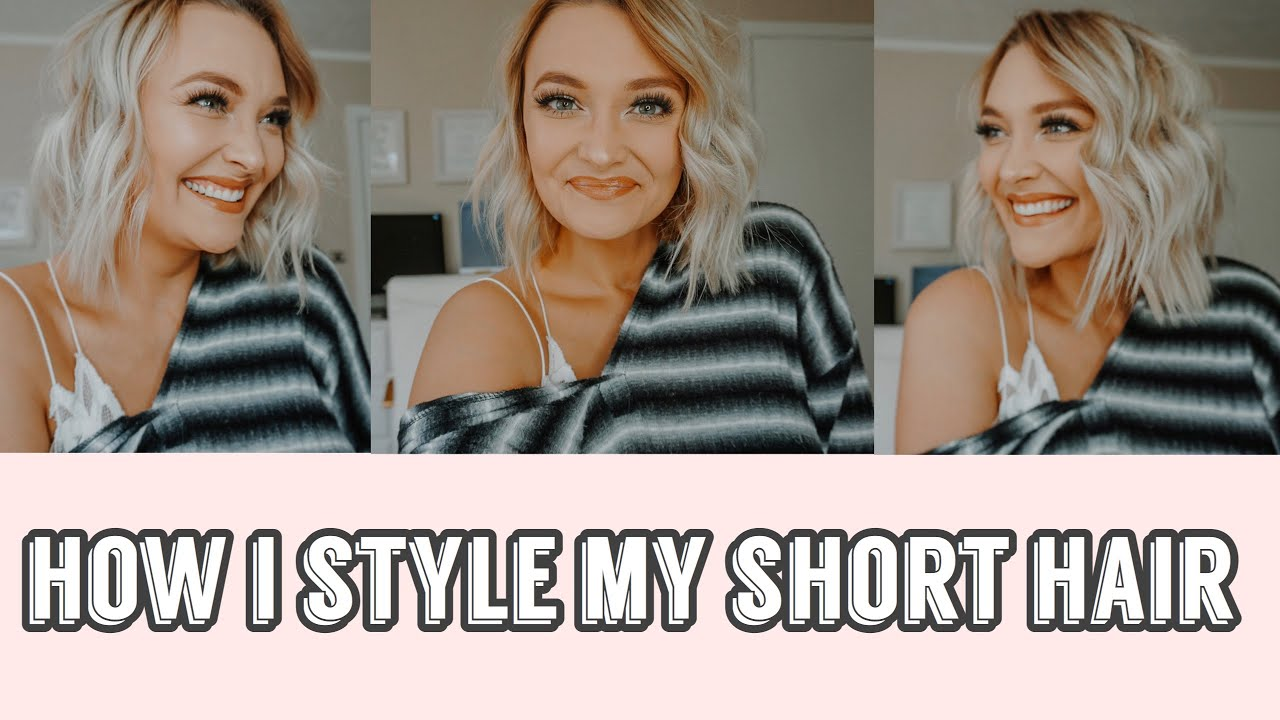 How To Style Shoulder Length Hair How I Style My Fine Thin Short Hair Youtube