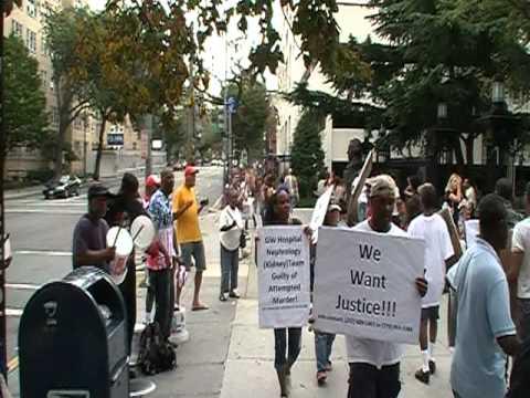 George Washington University Hospital Boycott Rally September 3, 2011 Part one