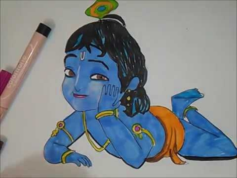 Easy Baby Krishna Coloring Pages Super Kins Author
