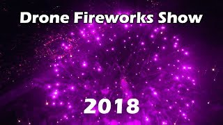 Seaside Florida July 4th Fireworks Show 2018 - Aerial Drone Footage