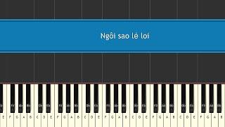 Ngôi sao lẻ loi - Phan Đinh Tùng Piano tutorial