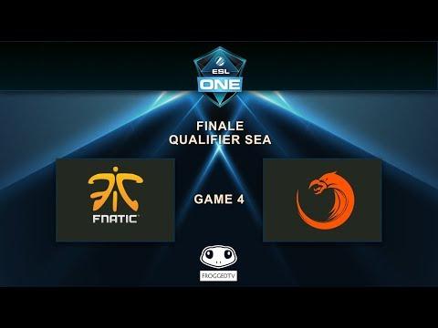 [ESL One Qualifier SEA] TNC vs Fnatic - Game 4 - Grande finale