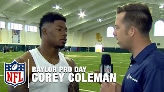 Corey Coleman: I'm the Best Wide Receiver in the Draft | Baylor Pro Day Interview | NFL