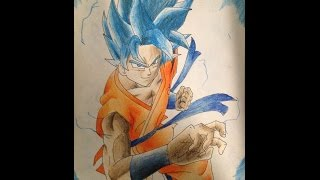 Speed Drawing - Goku SSGSS - By P-H
