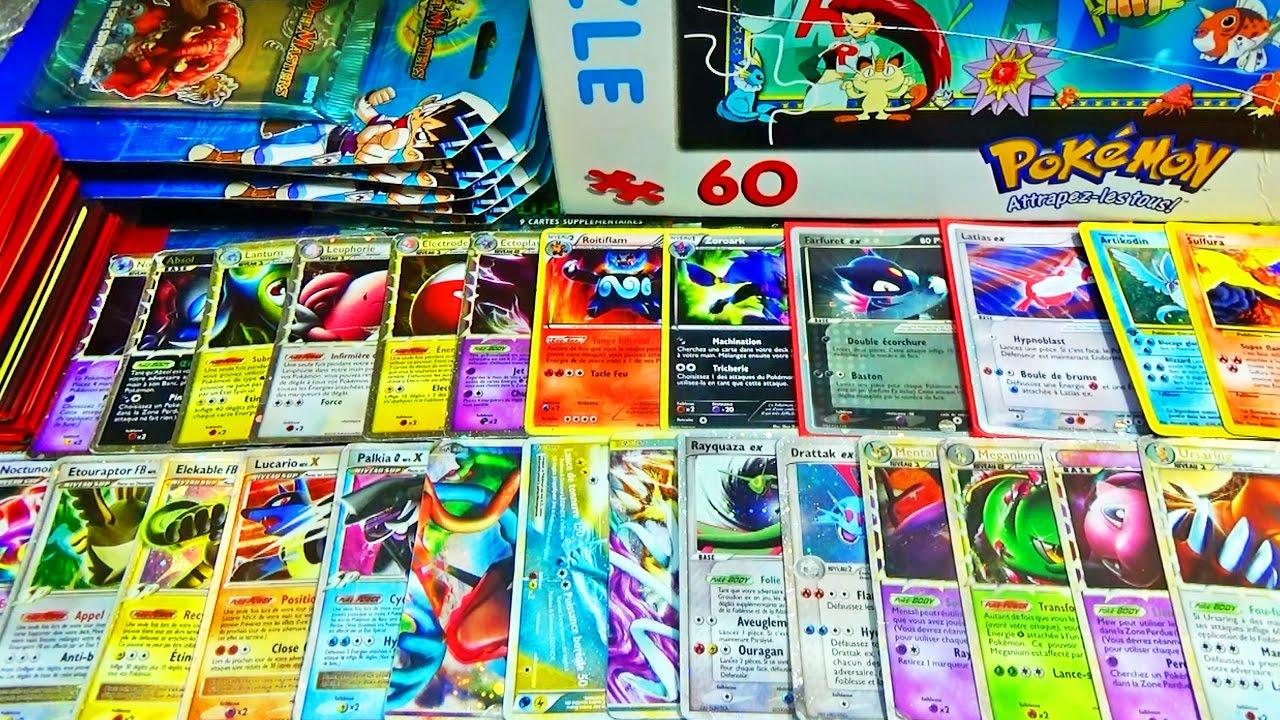 Retour de brocante pokemon 1 30 cartes pokemon ultra rare - Les pokemon rare ...