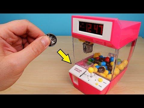 Мини Игровой автомат Кран Машина с Алиэкспресс! Зарядил его конфетами! Alex Boyko