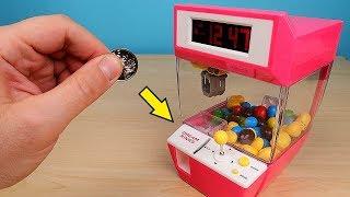 Міні Ігровий автомат Кран Машина з Алиэкспресс! Зарядив його цукерками! alex boyko