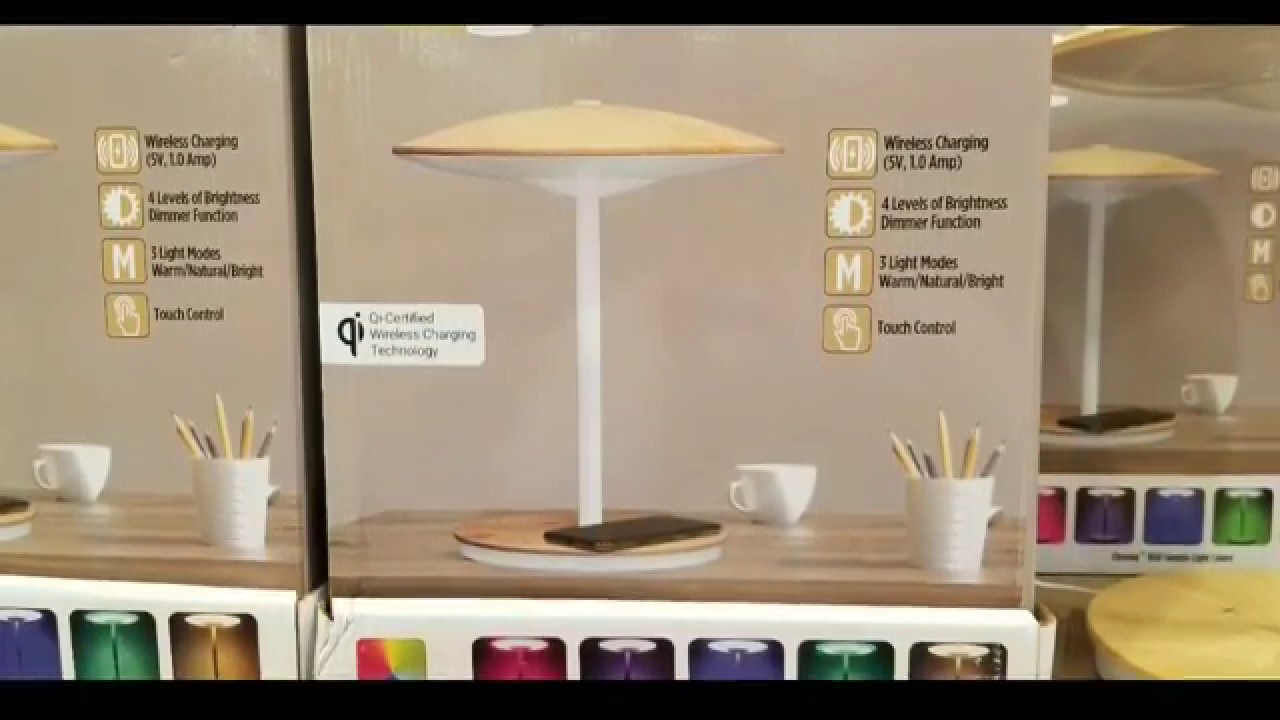 Costco Dome Led Desk Lamp W Mood Light Wireless Charging 49 Youtube
