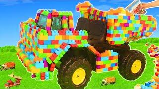 LEGO Pelleteuse, tractopelle, Camion de pompier, voiture de police, trains jouets Excavator Toys