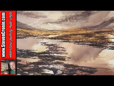 Rannoch Moor Watercolour Painting Tutorial with the Big Brush