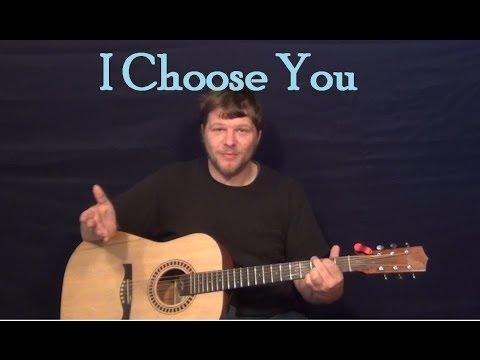 I Choose You (Sara Bareilles) Easy Guitar Lesson How to Play Tutorial