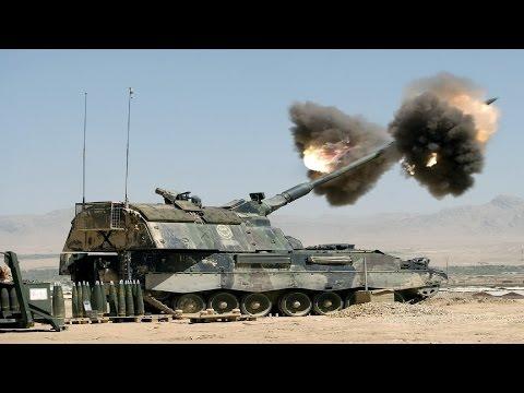 Ultra Powerful German Panzerhaubitze 2000 Self-Propelled Artillery in Action: PzH 2000 Live Fire