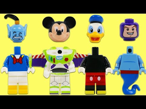 LEGO Minifigures Heads Fall Off Disney Mickey Mouse Buzz Lightyear Donald Duck and More!