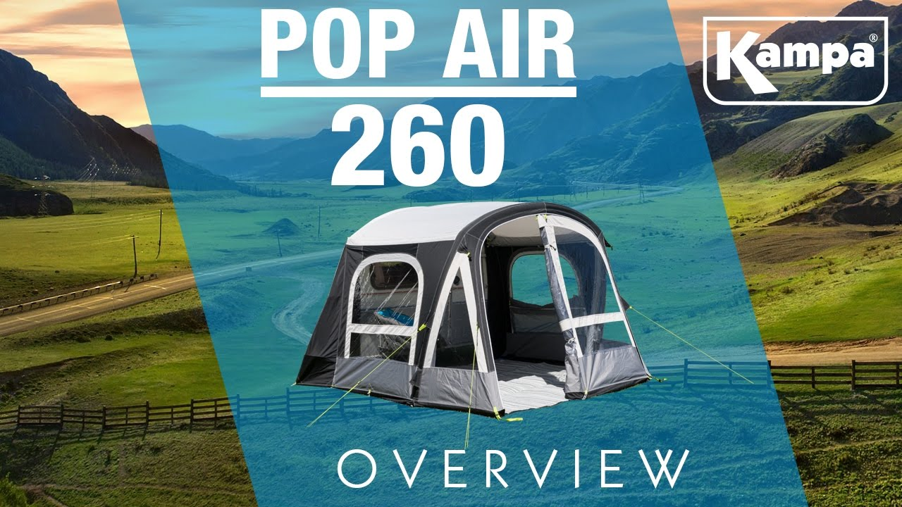Kampa Pop Air 260 Pro Overview Youtube