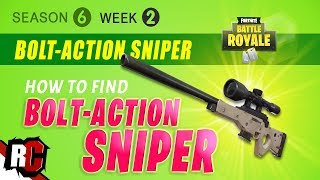 How to Find Bolt-Action Sniper Rifle in Fortnite | Week 2 Season 6 (Tips & Strategy)