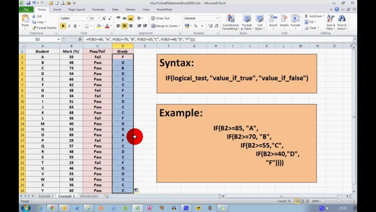how to create a statement in excel