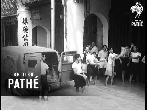Selected Originals -  Malaya  - 20,000 Flee Flooded Homes (1955)