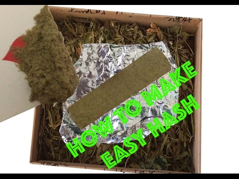 COMMENT FAIRE DU HASH FAIT MAISON FACILEMENT/HOW TO MAKE A HOME MADE HASH EASY