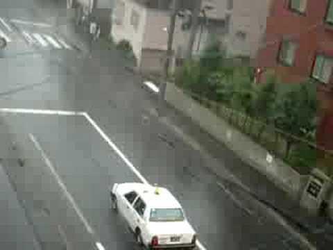 Sapporo's big rain storm
