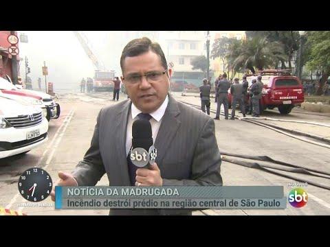 Vítima estava sendo resgatada quando prédio desabou em SP | Primeiro Impacto (01/05/18)