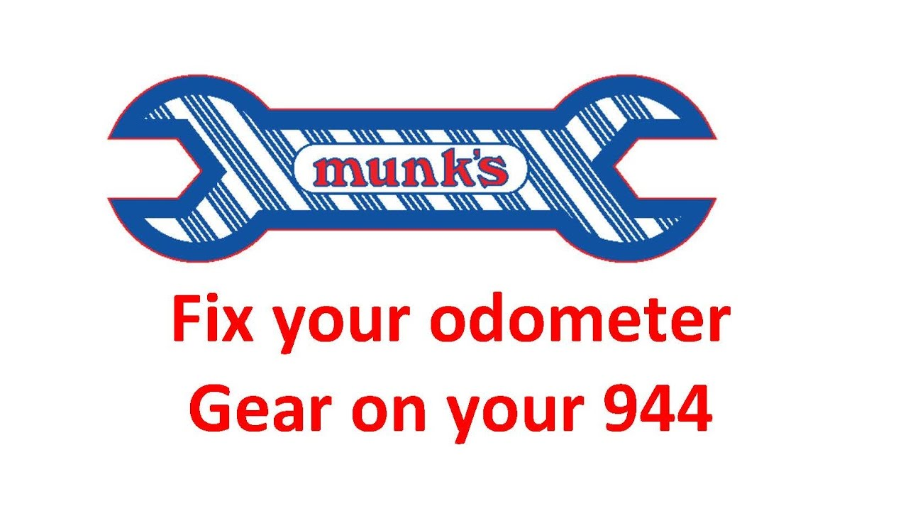 Replace the odometer gear on your Porsche 944-Munk's Motors
