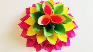 ЦВЕТОК Как сделать цветы из бумаги. Подарок Маме на 8 Марта Большие цветы (Эмилия) Оригами