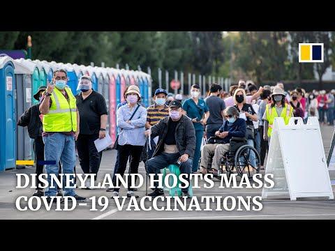 Coronavirus: California's Disneyland Hosts Mass Covid-19 Vaccination Site
