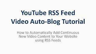 Video Curation Automation with RSS Feeds + IFTTT + RSS FeedFinder