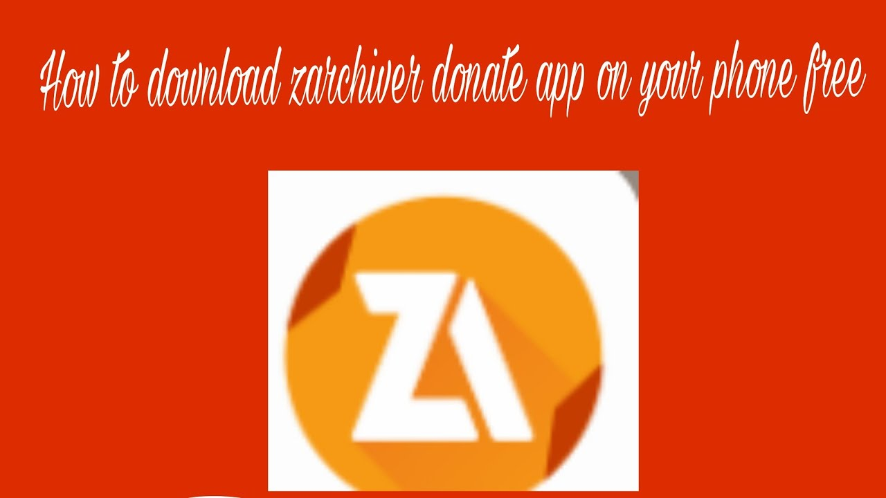How to download zarchiver donate apk free - YouTube