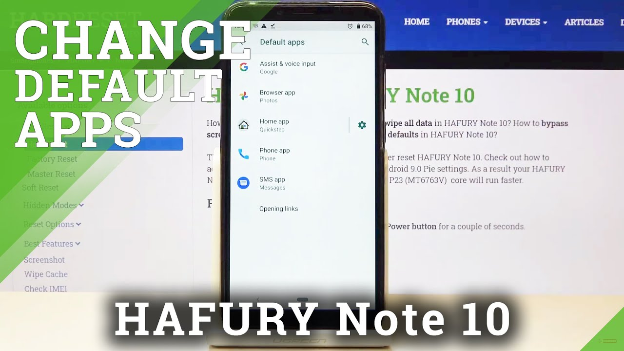 How To Set Default Browser On Hafury Note 10 Change Default Browser Youtube