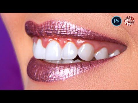 Как отбелить зубы / глаза в Фотошопе