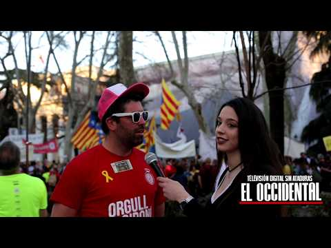 Independentistas catalanes vs realidad - A pie de calle