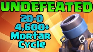 undefeated 20 0 mortar cycle 4600 trophies 29 elixir with rocket   clash royale