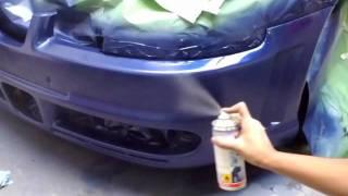 Bumper spuiten met Spraymax spuitbus