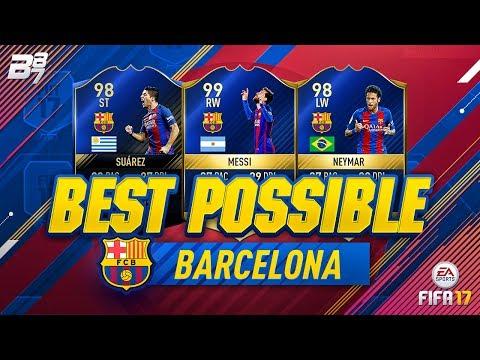 BEST POSSIBLE BARCELONA TEAM! w/ TOTS NEYMAR AND TOTS MESSI! | FIFA 17