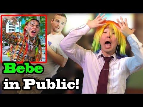 "6IX9INE (Tekashi69), Anuel AA - ""BEBE"" - SINGING IN PUBLIC!!"