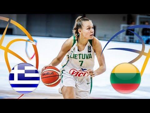 Greece v Lithuania – Full Game – FIBA U20 Women's European Championship Division B 2018