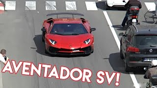 Red Lamborghini Aventador SV | Awesome Sound!