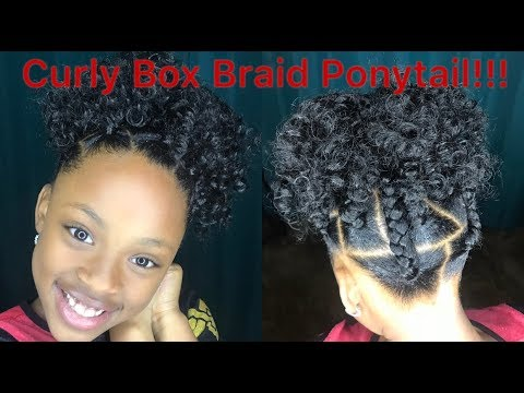Crochet Curly Box Braid Ponytail For Kids Youtube