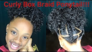 Crochet Curly Box Braid Ponytail for Kids!