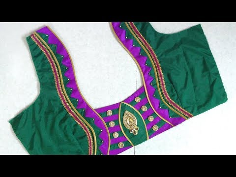 Beautiful And Simple Blouse Back Neck Designing At Home Womens Fashion Blouses Blouse Models Youtube,Pretty French Toe Nail Designs