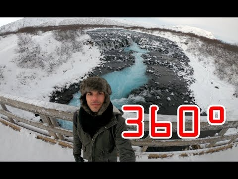 One minute at Bruarfoss waterfall (Iceland) - 360°