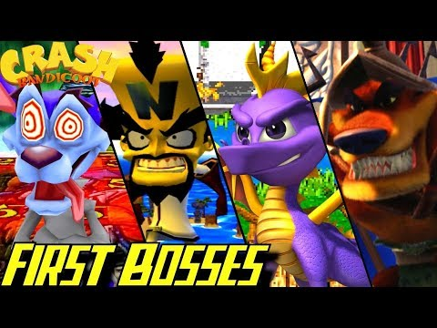 Evolution of First Bosses in Crash Bandicoot Games (1996-2017)