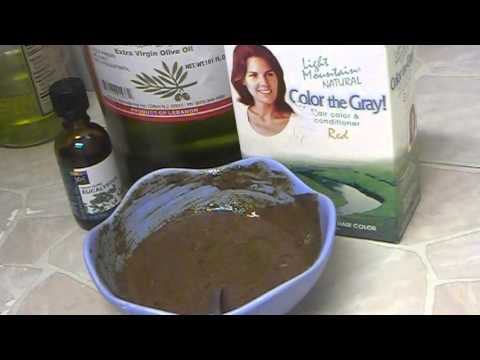 """""""Homemade Natural Henna Olive & Essential Oil Hair Care Mask For Healthy Hair Growth"""""""