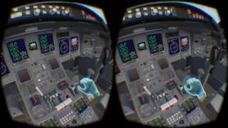 FSX Caribbean Landing Mission in Oculus Rift + Leap Motion